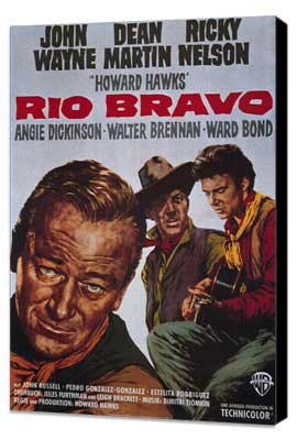 Rio Bravo - 11 x 17 Movie Poster - Style A - Museum Wrapped Canvas