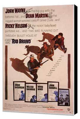 Rio Bravo - 11 x 17 Movie Poster - Style B - Museum Wrapped Canvas