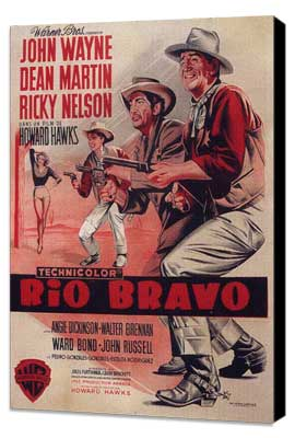 Rio Bravo - 11 x 17 Movie Poster - Style C - Museum Wrapped Canvas