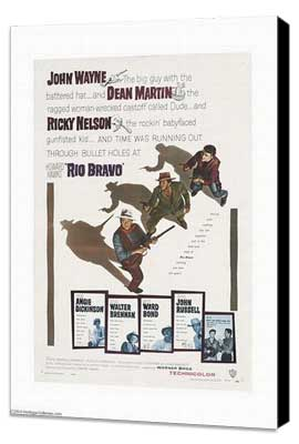 Rio Bravo - 27 x 40 Movie Poster - Style B - Museum Wrapped Canvas