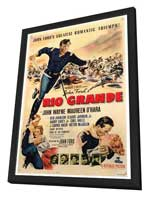 Rio Grande - 27 x 40 Movie Poster - Style A - in Deluxe Wood Frame