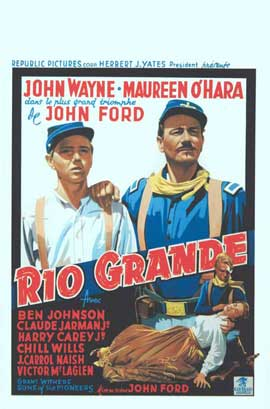 Rio Grande - 11 x 17 Movie Poster - Belgian Style A