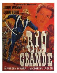 Rio Grande - 11 x 17 Movie Poster - French Style B