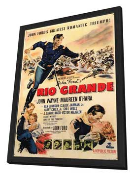 Rio Grande - 11 x 17 Movie Poster - Style A - in Deluxe Wood Frame