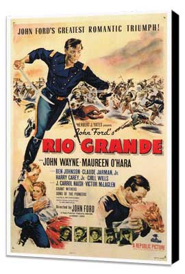 Rio Grande - 27 x 40 Movie Poster - Style A - Museum Wrapped Canvas