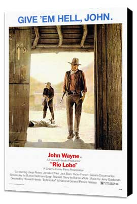 Rio Lobo - 27 x 40 Movie Poster - Style A - Museum Wrapped Canvas
