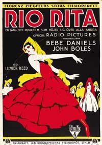 Rio Rita - 27 x 40 Movie Poster - Swedish Style A
