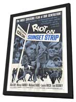 Riot on Sunset Strip - 27 x 40 Movie Poster - Style A - in Deluxe Wood Frame