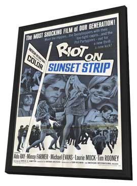 Riot on Sunset Strip - 11 x 17 Movie Poster - Style A - in Deluxe Wood Frame