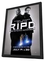 R.I.P.D. - 27 x 40 Movie Poster - Style A - in Deluxe Wood Frame