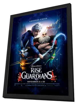 Rise of the Guardians - 27 x 40 Movie Poster - Style B - in Deluxe Wood Frame