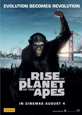 Rise of the Planet of the Apes - 27 x 40 Movie Poster - Australian Style A