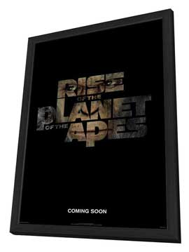 Rise of the Planet of the Apes - 27 x 40 Movie Poster - Style A - in Deluxe Wood Frame