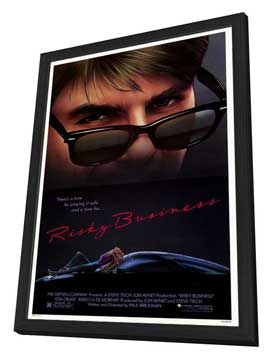 Risky Business - 11 x 17 Movie Poster - Style A - in Deluxe Wood Frame