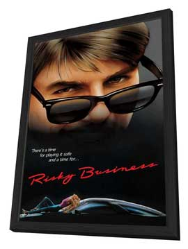 Risky Business - 11 x 17 Movie Poster - Style C - in Deluxe Wood Frame
