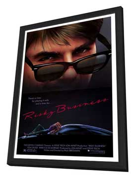 Risky Business - 27 x 40 Movie Poster - Style A - in Deluxe Wood Frame