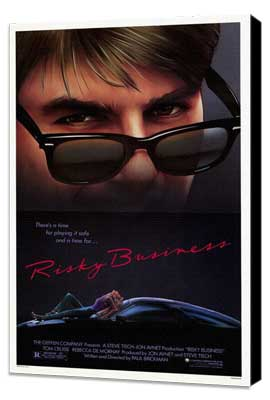 Risky Business - 11 x 17 Movie Poster - Style A - Museum Wrapped Canvas