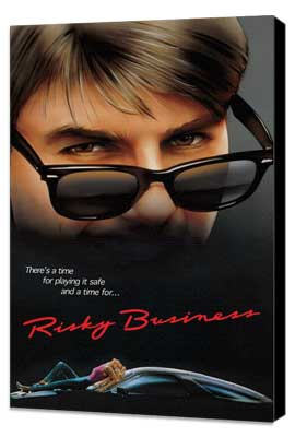 Risky Business - 11 x 17 Movie Poster - Style C - Museum Wrapped Canvas