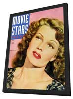 Rita Hayworth - 11 x 17 Movie Stars Parade Magazine Cover 1940's - in Deluxe Wood Frame