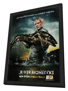 River Monsters - 11 x 17 Movie Poster - Style A - in Deluxe Wood Frame