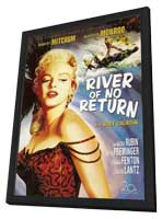 River of No Return - 11 x 17 Movie Poster - Style B - in Deluxe Wood Frame