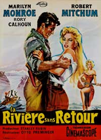 River of No Return - 27 x 40 Movie Poster - French Style A