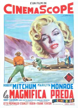 River of No Return - 11 x 17 Movie Poster - Italian Style D