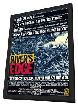 Rivers Edge - 11 x 17 Movie Poster - Style B - in Deluxe Wood Frame
