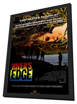 Rivers Edge - 27 x 40 Movie Poster - Style B - in Deluxe Wood Frame