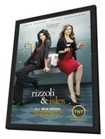 Rizzoli & Isles - 11 x 17 TV Poster - Style A - in Deluxe Wood Frame