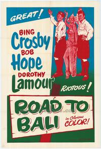 Road to Bali - 43 x 62 Movie Poster - Bus Shelter Style A
