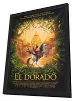 The Road to El Dorado - 27 x 40 Movie Poster - Style B - in Deluxe Wood Frame