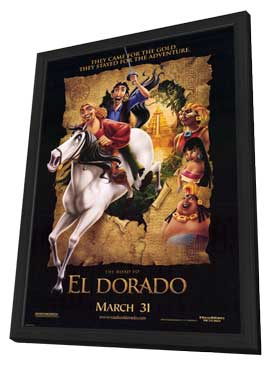 The Road to El Dorado - 11 x 17 Movie Poster - Style A - in Deluxe Wood Frame