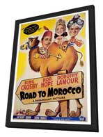 The Road to Morocco - 27 x 40 Movie Poster - Style A - in Deluxe Wood Frame