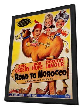 The Road to Morocco - 11 x 17 Movie Poster - Style A - in Deluxe Wood Frame