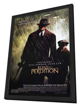 Road to Perdition - 27 x 40 Movie Poster - Style A - in Deluxe Wood Frame