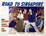 The Road to Singapore - 11 x 14 Movie Poster - Style F