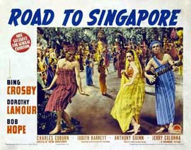 The Road to Singapore - 11 x 14 Movie Poster - Style C