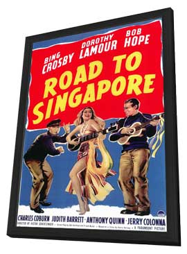The Road to Singapore - 11 x 17 Movie Poster - Style A - in Deluxe Wood Frame