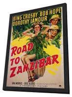 Road to Zanzibar - 11 x 17 Movie Poster - Style A - in Deluxe Wood Frame