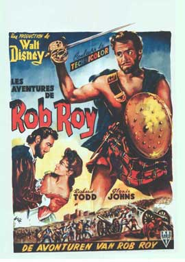 Rob Roy, the Highland Rogue - 11 x 17 Movie Poster - Belgian Style A