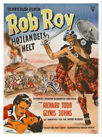 Rob Roy, the Highland Rogue - 27 x 40 Movie Poster - Danish Style A
