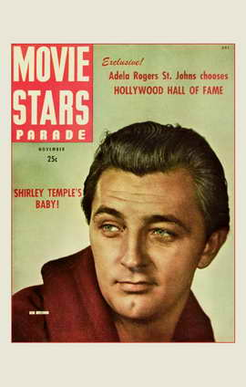 Robert Mitchum - 11 x 17 Movie Stars Parade Magazine Cover 1940's