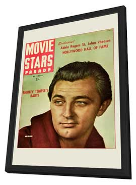 Robert Mitchum - 11 x 17 Movie Stars Parade Magazine Cover 1940's - in Deluxe Wood Frame