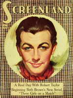 Robert Taylor - 11 x 17 Screenland Magazine Cover 1930's Style A