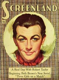 Robert Taylor - 27 x 40 Movie Poster - Screenland Magazine Cover 1930's Style A