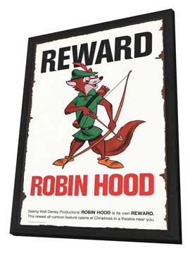 Robin Hood - 11 x 17 Movie Poster - Style C - in Deluxe Wood Frame