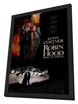 Robin Hood: Prince of Thieves - 11 x 17 Movie Poster - Style A - in Deluxe Wood Frame