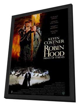 Robin Hood: Prince of Thieves - 27 x 40 Movie Poster - Style A - in Deluxe Wood Frame
