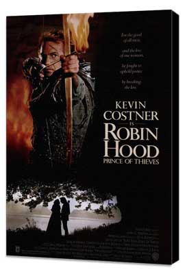 Robin Hood: Prince of Thieves - 11 x 17 Movie Poster - Style A - Museum Wrapped Canvas